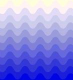 Μπλε κυματιστό σχέδιο που λαμπυρίζει ήπια από το σκοτάδι στο φως αφηρημένη ανασκόπηση γεωμ&epsil Στοκ Φωτογραφία