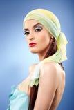 Μπλε κυρία γοητείας Στοκ εικόνα με δικαίωμα ελεύθερης χρήσης