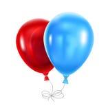 μπλε κόκκινο μπαλονιών Στοκ Φωτογραφίες