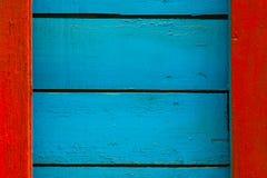 Μπλε-κόκκινο ξύλινο υπόβαθρο Στοκ Εικόνα