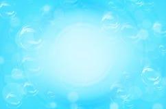 Μπλε κύκλοι και υπόβαθρο φυσαλίδων διανυσματική απεικόνιση