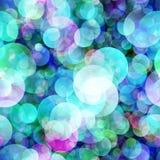 Μπλε κύκλοι υποβάθρου άνευ ραφής Στοκ φωτογραφία με δικαίωμα ελεύθερης χρήσης