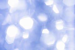 Μπλε κύκλοι bokeh Στοκ Εικόνα