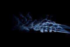 Μπλε κύματα καπνού Στοκ Εικόνα