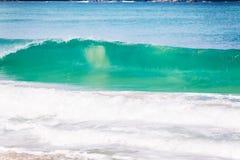 Μπλε κύματα στον ωκεανό Στοκ φωτογραφίες με δικαίωμα ελεύθερης χρήσης