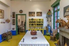 Μπλε Λα Casa Azul σπιτιών Στοκ Φωτογραφίες