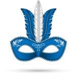 Μπλε μάσκα με τα φτερά ελεύθερη απεικόνιση δικαιώματος