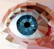μπλε μάτι διανυσματική απεικόνιση