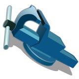 Μπλε μέγγενη σε ένα άσπρο υπόβαθρο διάνυσμα ελεύθερη απεικόνιση δικαιώματος