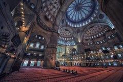 μπλε μέσα στο μουσουλμ&al Στοκ Εικόνες