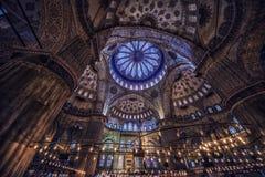 μπλε μέσα στο μουσουλμ&al Στοκ Φωτογραφίες