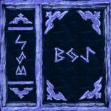Μπλε μαγικό βιβλίο κάλυψης Στοκ Εικόνες