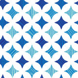 Μπλε μαρμάρινο υπόβαθρο σχεδίων κεραμιδιών άνευ ραφής Στοκ Φωτογραφία