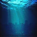 μπλε μεγάλα θαλάσσια βάθη Στοκ Εικόνα