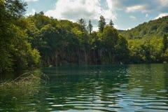 Μπλε μεγάλη λίμνη Plitvice Στοκ Εικόνα