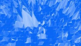 Μπλε μεταλλική χαμηλή πολυ επιφάνεια κυματισμού ως γενναίο υπόβαθρο Μπλε polygonal γεωμετρικό δομένος περιβάλλον ή να κυμαθεί ελεύθερη απεικόνιση δικαιώματος