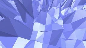 Μπλε μεταλλική χαμηλή πολυ επιφάνεια κυματισμού ως θαυμάσιο υπόβαθρο Μπλε polygonal γεωμετρικό δομένος περιβάλλον ή ελεύθερη απεικόνιση δικαιώματος