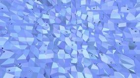 Μπλε μεταλλική χαμηλή πολυ επιφάνεια κυματισμού ως διαστημικό υπόβαθρο Μπλε polygonal γεωμετρικό δομένος περιβάλλον ή να κυμαθεί φιλμ μικρού μήκους