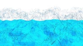 Μπλε μεταλλική χαμηλή πολυ επιφάνεια κυματισμού ως καθαρό σκηνικό Μπλε polygonal γεωμετρικό δομένος περιβάλλον ή να κυμαθεί διανυσματική απεικόνιση