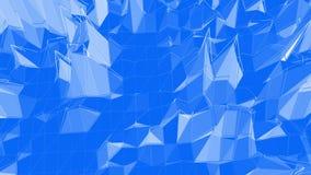 Μπλε μεταλλική χαμηλή πολυ επιφάνεια κυματισμού ως κομψό υπόβαθρο Μπλε polygonal γεωμετρικό δομένος περιβάλλον ή να κυμαθεί απεικόνιση αποθεμάτων