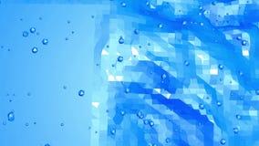 Μπλε μεταλλική χαμηλή πολυ επιφάνεια κυματισμού ως μοριακό υπόβαθρο Μπλε polygonal γεωμετρικό δομένος περιβάλλον ή ελεύθερη απεικόνιση δικαιώματος