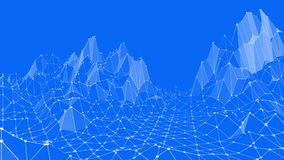 Μπλε μεταλλική χαμηλή πολυ επιφάνεια κυματισμού ως υπόβαθρο νεολαίας Μπλε polygonal γεωμετρικό δομένος περιβάλλον ή να κυμαθεί ελεύθερη απεικόνιση δικαιώματος