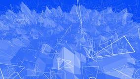 Μπλε μεταλλική χαμηλή πολυ επιφάνεια κυματισμού ως υπόβαθρο ονείρου Μπλε polygonal γεωμετρικό δομένος περιβάλλον ή να κυμαθεί ελεύθερη απεικόνιση δικαιώματος