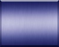 Μπλε μεταλλικό πιάτο Στοκ Εικόνες