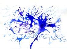 μπλε μελάνι λεκέδων Στοκ φωτογραφία με δικαίωμα ελεύθερης χρήσης