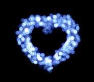 Μπλε μορφές καρδιών bokeh Στοκ φωτογραφία με δικαίωμα ελεύθερης χρήσης