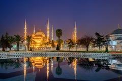Μπλε μουσουλμανικό τέμενος, Ιστανμπούλ, Τουρκία Στοκ Εικόνα