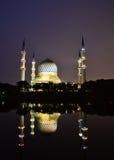 Μπλε μουσουλμανικό τέμενος σε Shah Alam Στοκ Εικόνες