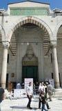 Μπλε μουσουλμανικό τέμενος σουλτάνων ahmet, Κωνσταντινούπολη στην Τουρκία στοκ φωτογραφία
