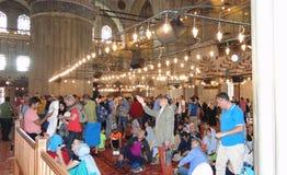 Μπλε μουσουλμανικό τέμενος σουλτάνων ahmet, Κωνσταντινούπολη στην Τουρκία στοκ εικόνες με δικαίωμα ελεύθερης χρήσης