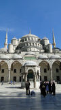 Μπλε μουσουλμανικό τέμενος σουλτάνων ahmet, Κωνσταντινούπολη στην Τουρκία στοκ εικόνες