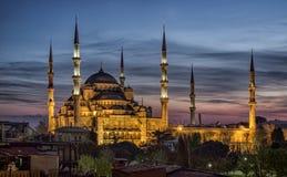 Μπλε μουσουλμανικό τέμενος στην Κωνσταντινούπολη, Τουρκία Στοκ εικόνες με δικαίωμα ελεύθερης χρήσης
