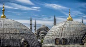 Μπλε μουσουλμανικό τέμενος στην Κωνσταντινούπολη, Τουρκία Στοκ Εικόνες