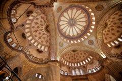μπλε μουσουλμανικό τέμενος της Κωνσταντινούπολης Στοκ Φωτογραφίες
