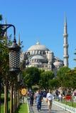 μπλε μουσουλμανικό τέμενος Τουρκία της Κωνσταντινούπολης Στοκ Εικόνα