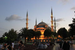 μπλε μουσουλμανικό τέμενος Στοκ εικόνα με δικαίωμα ελεύθερης χρήσης