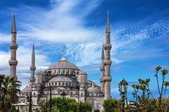 Μπλε μουσουλμανικό τέμενος Sultanahmet, Ιστανμπούλ, Τουρκία στοκ φωτογραφίες
