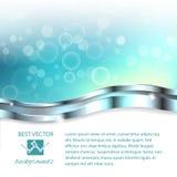Μπλε μουτζουρωμένο αφηρημένο υπόβαθρο φω'των Στοκ Εικόνες