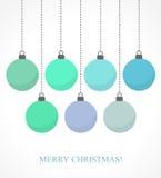Μπλε μπιχλιμπίδια Χριστουγέννων Στοκ Εικόνες