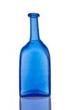 Μπλε μπουκάλι γυαλιού χειροποίητο Στοκ εικόνα με δικαίωμα ελεύθερης χρήσης
