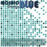 Μπλε μωσαϊκών Στοκ φωτογραφία με δικαίωμα ελεύθερης χρήσης