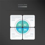 Μπλε νέου σχεδίου παρουσίασης ορθογωνίων Στοκ Φωτογραφίες