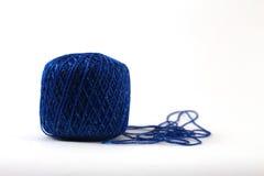 Μπλε νήμα Στοκ Εικόνα