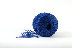 Μπλε νήμα Στοκ Εικόνες