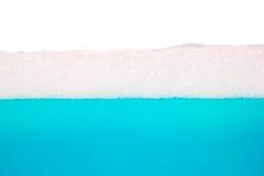 μπλε νερό, σύσταση φυσαλίδων Στοκ Εικόνες