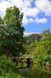 μπλε νορβηγικός ουρανός φύσης βουνών fiords στοκ εικόνες